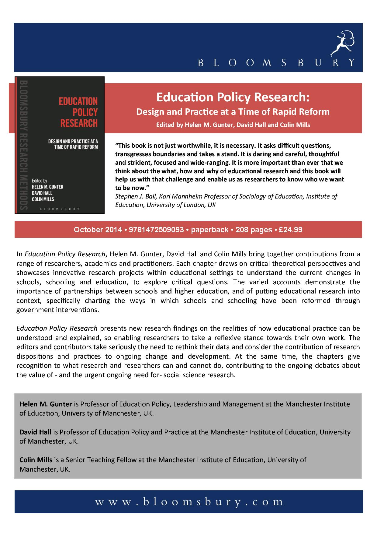 education policy essay View test prep - padm final from padm 550 at liberty running head: education policy 1 final paper natashdra mouton 10/16/2015 padm 550 module 8 dr kahlib fischer education policy 2 abstract this.