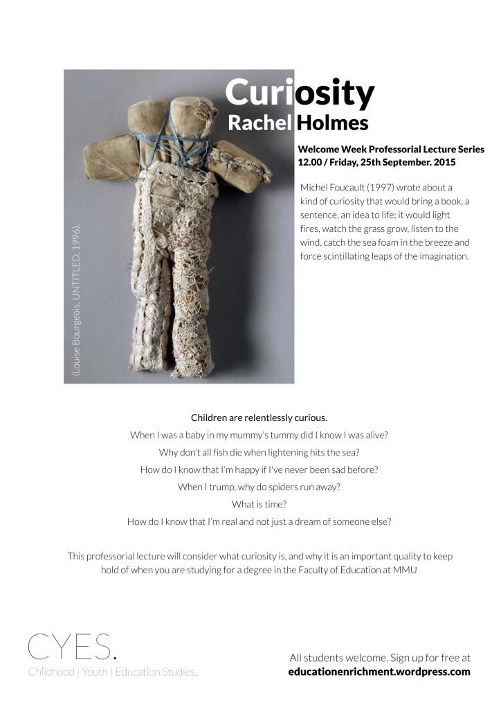 Rachel Holmes Professorial Lecture